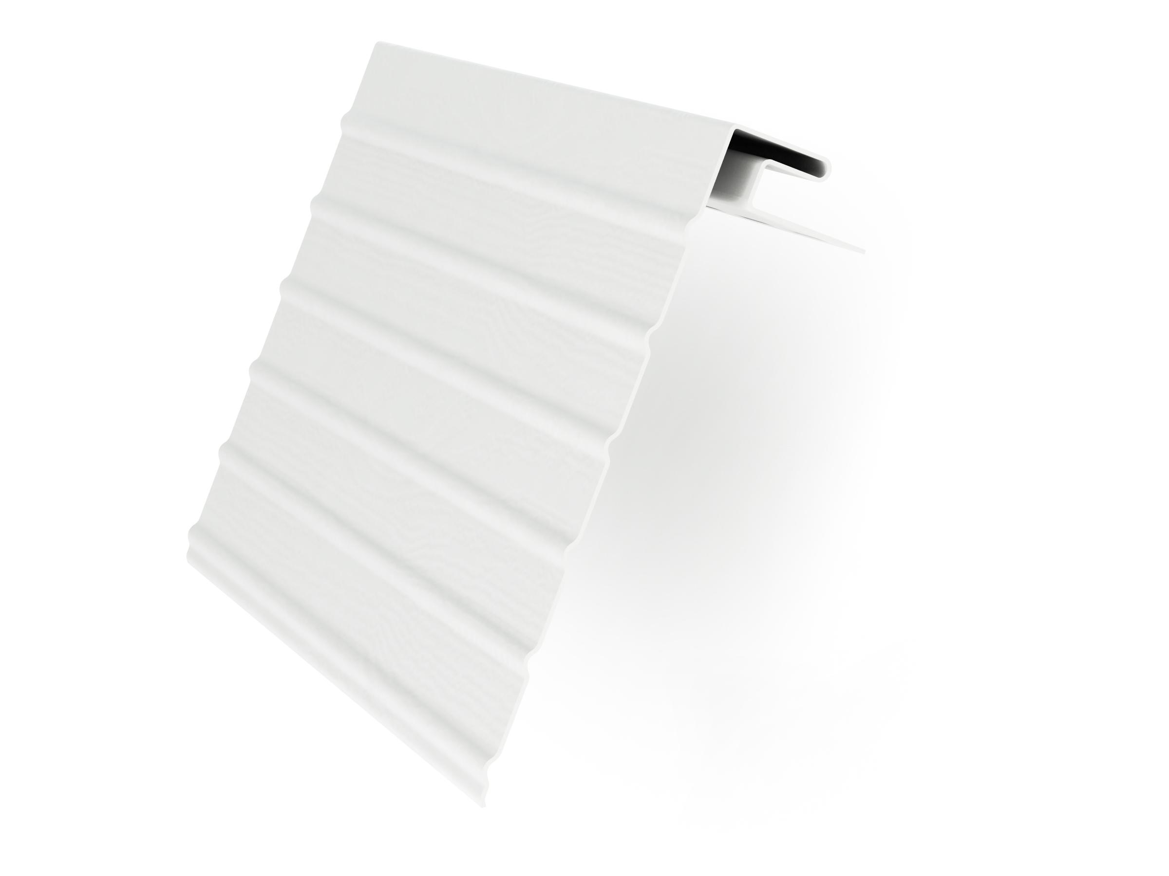 Ветровая доска J-фаска Белая - ТотумПласт