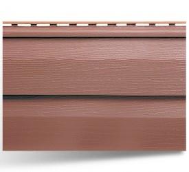 Акриловый сайдинг «KANADA плюс Премиум» Красно-коричневый 3660×230 мм
