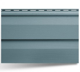 Виниловый сайдинг «Альта-Сайдинг» Серо-голубой 3660×230 мм