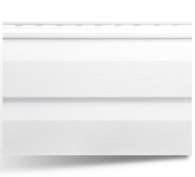 Виниловый сайдинг «Альта-Сайдинг» Белый 3660×230 мм
