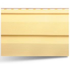 Виниловый сайдинг «KANADA плюс Престиж» Жёлтый 3660×230 мм