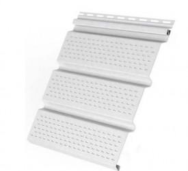 Виниловый Софит «Grand Line» (белый) с полной перфорацией 3,05×0,305