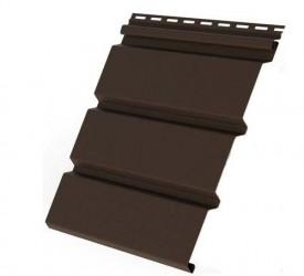 Виниловый Софит «Grand Line» (коричневый) гладкий 3,05×0,305