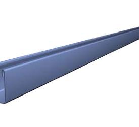 Торцевой профиль белый глянец 3000 мм