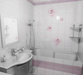3Д Панель ПВХ Новита Пиканто розовый