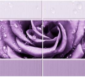 Панель ПВХ UNIQUE Капли росы Фиолетовый