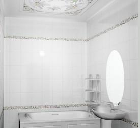 Потолочная 3Д панель Новита Лилия 150×180 см