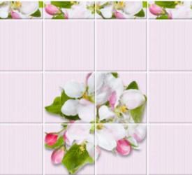 Панель ПВХ UNIQUE Яблоневый цвет розовый