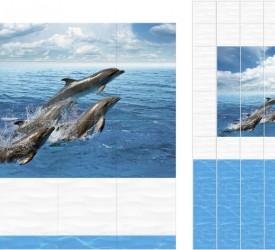 Панель ПВХ UNIQUE Дельфины
