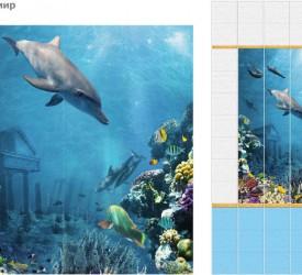 Панель ПВХ UNIQUE Подводный мир