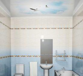 Потолочная 3Д панель Новита Чайки 200×250 см