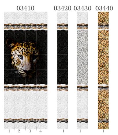 Пластиковые панели Панда, коллекция Леопард