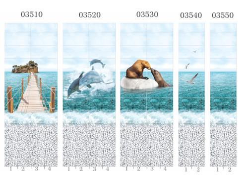 Пластиковые панели Панда, коллекция Море