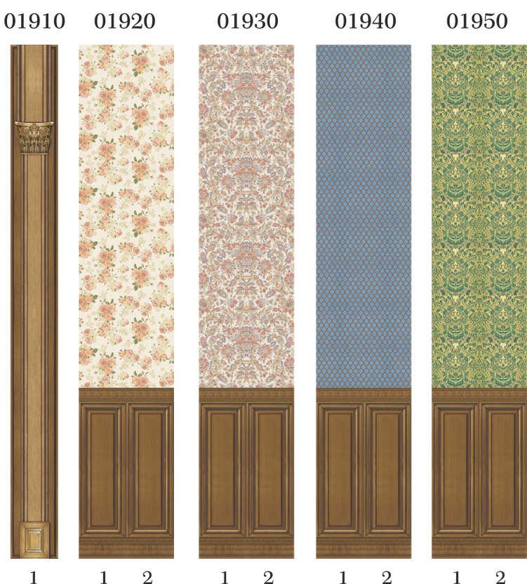 Пластиковые панели Панда, коллекция Панель деревянная Орех